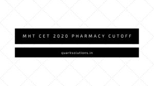 MHT CET 2020 Pharmacy Cutoff