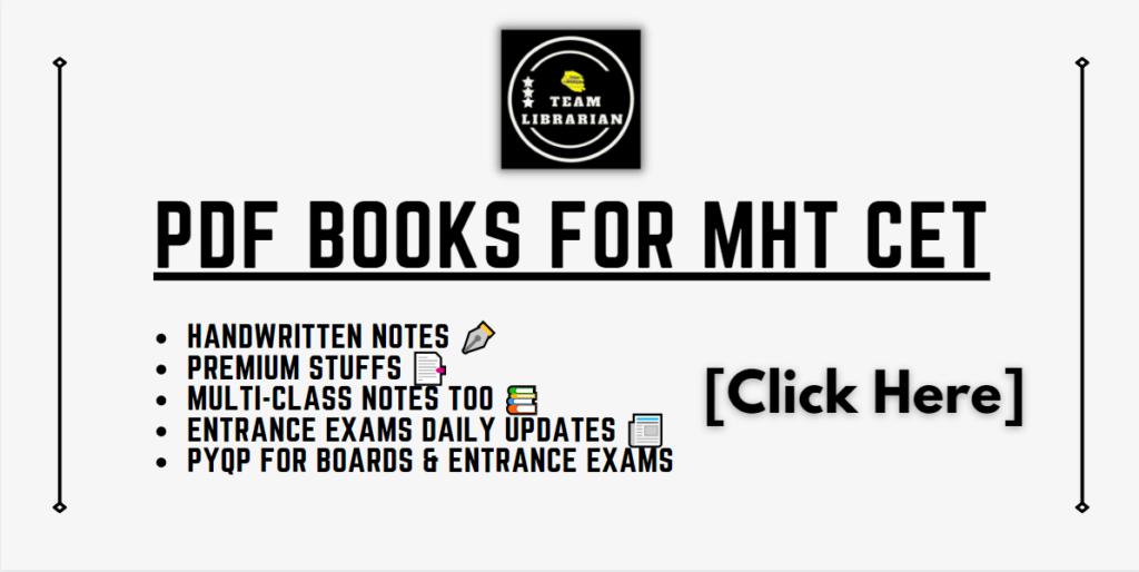 pdf books for mht cet