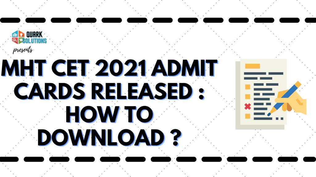 mht cet 2021 admit card